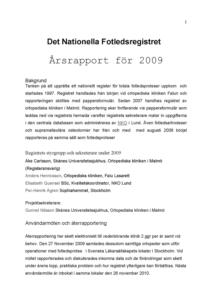 Miniatyrbild av förstasidan på årsrapporten 2009.