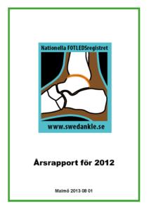 Miniatyrbild av förstasidan på årsrapporten 2012.