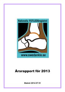 Miniatyrbild av förstasidan på årsrapporten 2013.